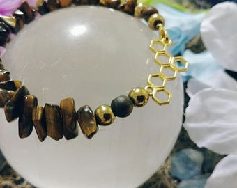 Gold and Honey Bracelet