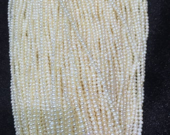 2.5-3mm baby size pearls necklace tiny size pearls strand