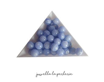 Round Agate Rubane 6 mm - set of 10 beads