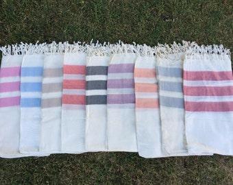 3 stripes Bamboo Peshtemal Towel  - Authentic Towel - Bath Towel - Beach Towel - 100% Bamboo