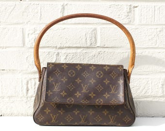 Authentic Louis Vuitton Monogram Looping Mini Shoulder Bag Purse Handbag LV YO4052