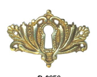 Key Hole Cover- Cast Brass Victorian Style KEYHOLE COVER