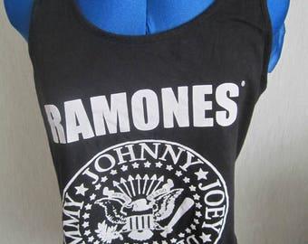 Ramones, Ladies Vintage Vest Top, Punk Rock, Size M
