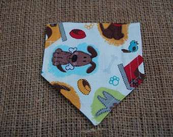 Small Dog Bandana, Reversible Dog Bandana, Over the Collar Bandana, Pet Bandana, Dog Bandana, Blue Dog Bandana, Puppy Bandana, Dog Clothing