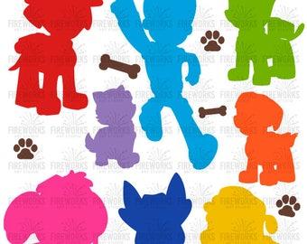 Paw Patrol svg, Patrol svg, Paw svg, Paw patrol silhouette, Patrol files – svg, eps, dxf, png, jpg - Fabric, Shirt, Cut, Print, Mug, Decal -