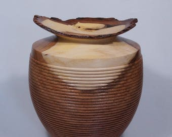 Wood turned Vessel, Mesquite vessel, hand turned wood vessel, one of a kind, hollow form, art piece