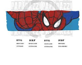 Spiderman SVG DXF for Cricut Design Space - Silhouette Studio