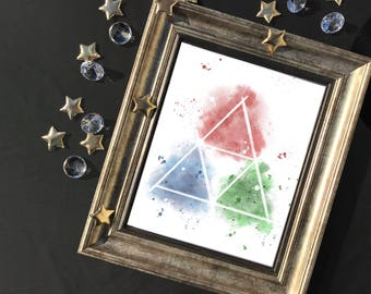 Triforce Watercolor Style Art Print | Instant Download | Inspired by The Legend of Zelda