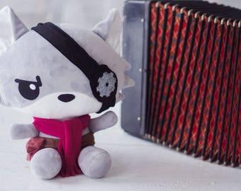 READY TO Ship. Steampunk Little Wolf Plush Cuddly Soft Toy Handmade