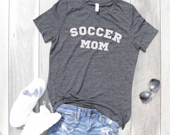 Soccer Mom Relaxed Jersey T-Shirt, Funny Shirt, Gym Shirt, Workout Top, Graphic Tee, Graphic Shirt, Workout Shirt