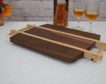 CB07 - Custom-Made Cutting Board/Serving Tray 10x12 Walnut
