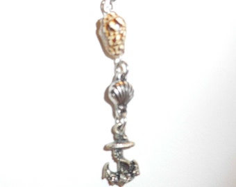 Seahorse Shell Necklace & Earrings