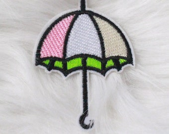 Umbrella DIY Iron-on Embroidered Patch!