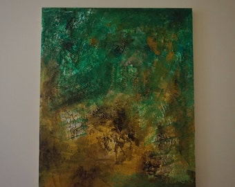 Abstract Textured Acrylic Painting