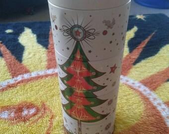 Festive Christmas Stacking Tin with Christmas Tree