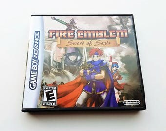 Fire Emblem Sword of Seals Game + Case (Binding Blade) GBA Game Boy Advance English Fan Translation - Great Quality! (Cart + Box)