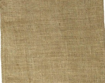 AAYU's Burlap Fabric, 7 ounce Fabric, Food Grade, Two Locked and Two Raw Edge | Burlap Wedding Material | Burlap table topper | Jute Product