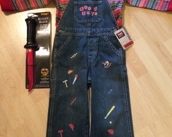 Chucky Costume Goodguy New with tags 4t plus toy knife