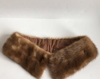 Free Shipping - Vintage Mink Collar