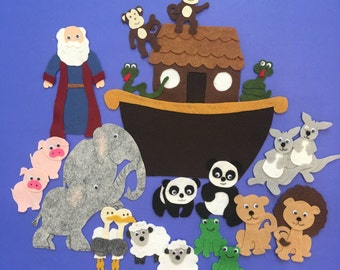 Noah's Ark, Great Flood, Bible Story, Felt Story Board Pattern, PDF PATTERN ONLY