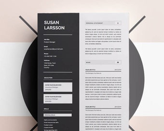 CV Template | MS Word Template | Resume Template Instant Download | Curriculum Vitae | Crafter Resume