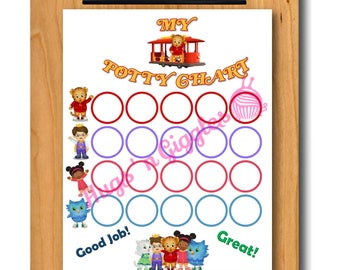 Daniel Tiger's Neighborhood Inspired Potty Training Chart