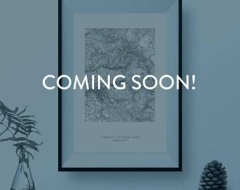 Mount Saint Helens: Custom Topographic Print