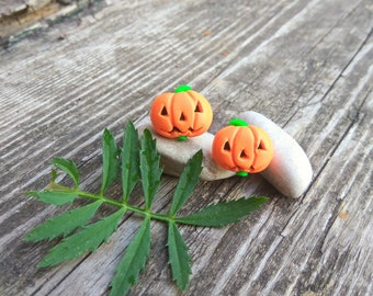 Halloween jack-o-lantern Pumpkin earrings Autumn earrings Halloween gift Party jewelry Halloween pumpkin jewelry Halloween pumpkin party