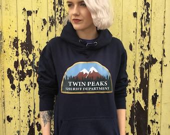 Twin Peaks Sheriff's Department Logo  | Navy Blue Hoodie