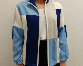 Vintage ALIA Color-Block Jacket 90's Alia Zip Up Colourblock Coat