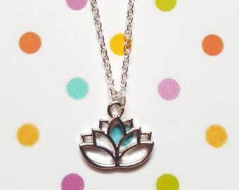 Lotus flower necklace, Lotus jewellery, Lotus necklace, Pendant necklace, Lotus flower, Lotus pendant, Lotus, Flower
