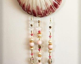 Stoneware Shell Beaded Wall Hanging