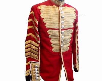 Welsh Guards Drum Major Mans Red Tunic - Ceremonial Uniform - Footguards - E650