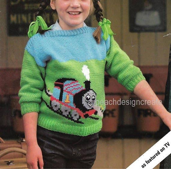 Knitting Pattern Thomas The Tank Engine Sweater Jumper