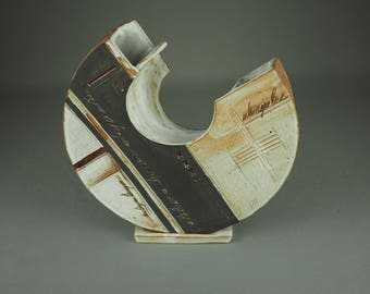 Decorative stoneware vase