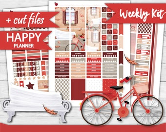 FALL Happy Planner Weekly Stickers, Printable Planner Stickers, Happy Planner Weekly Kit, Watercolor Weekly Kit, weekly kit, cutfiles HP-15
