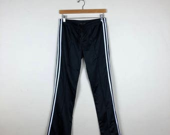 90s Black Track Pants Size Small, Sporty Track Pants, Black Track Pants, Women's Track Pant