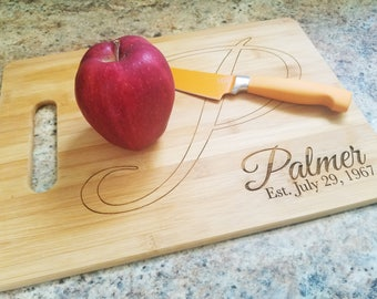 Cutomized Engraved Bamboo Cutting Board - Laser Cut - Eco Friendly