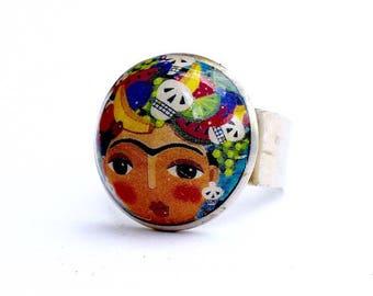 Ring Frida/Fancy ring/Fashion ring/Festival fashion/Frida Kahlo