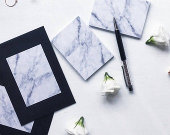 Marble Post It Notes | Sticky Notes | Deskpad
