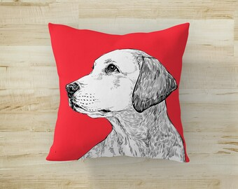 Dog Pillow, Personalized Pillow, Custom Pillow, Cat Pillow, Pet Memorial, Pet Loss Gift, Dog Lovers Gift, Pet Sympathy Gift, Pet Remembrance