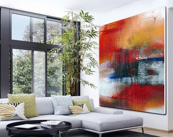 large wall art for living room. Abstract painting  Large abstract Wall Art Heavy Texture Decor Painting wall art Etsy