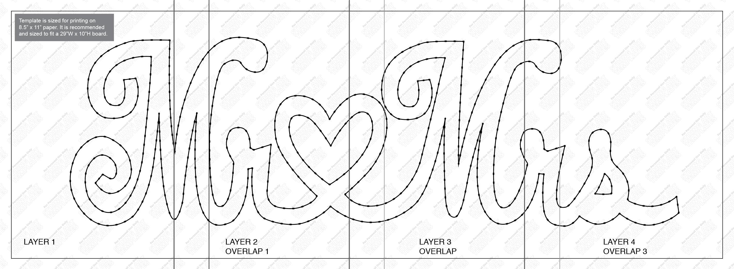 mr mrs string art template from stringarttemplate on etsy studio. Black Bedroom Furniture Sets. Home Design Ideas