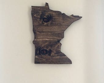 Minnesota Wood Sign/Small State Sign/Minnesota Wall Decor/Minnesota Cut Out/Home State Sign/Minnesota Wall Art/Wood State Sign/Wood Sign