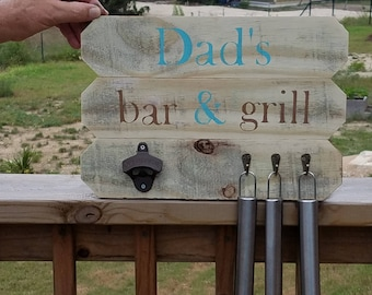 Rustic Outdoor Bar & Grill Sign