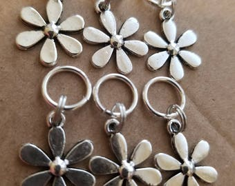 Stitch Markers.  April Showers bring May Flowers!