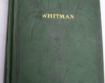 Walt Whitman Leaves of Grass with Autobiography 1900