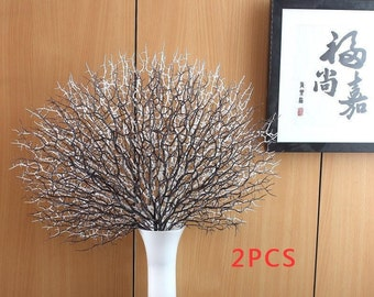 1 PCS Beautiful Artificial Fan Shaped Plastic Home Decoration Branch Plant Gift without vase