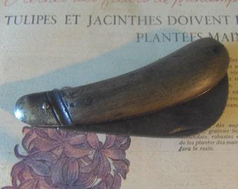 Vintage Wooden Grafting Folding Pocket Knife