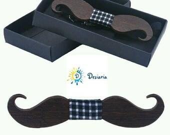 Wooden bow Moustache pictures